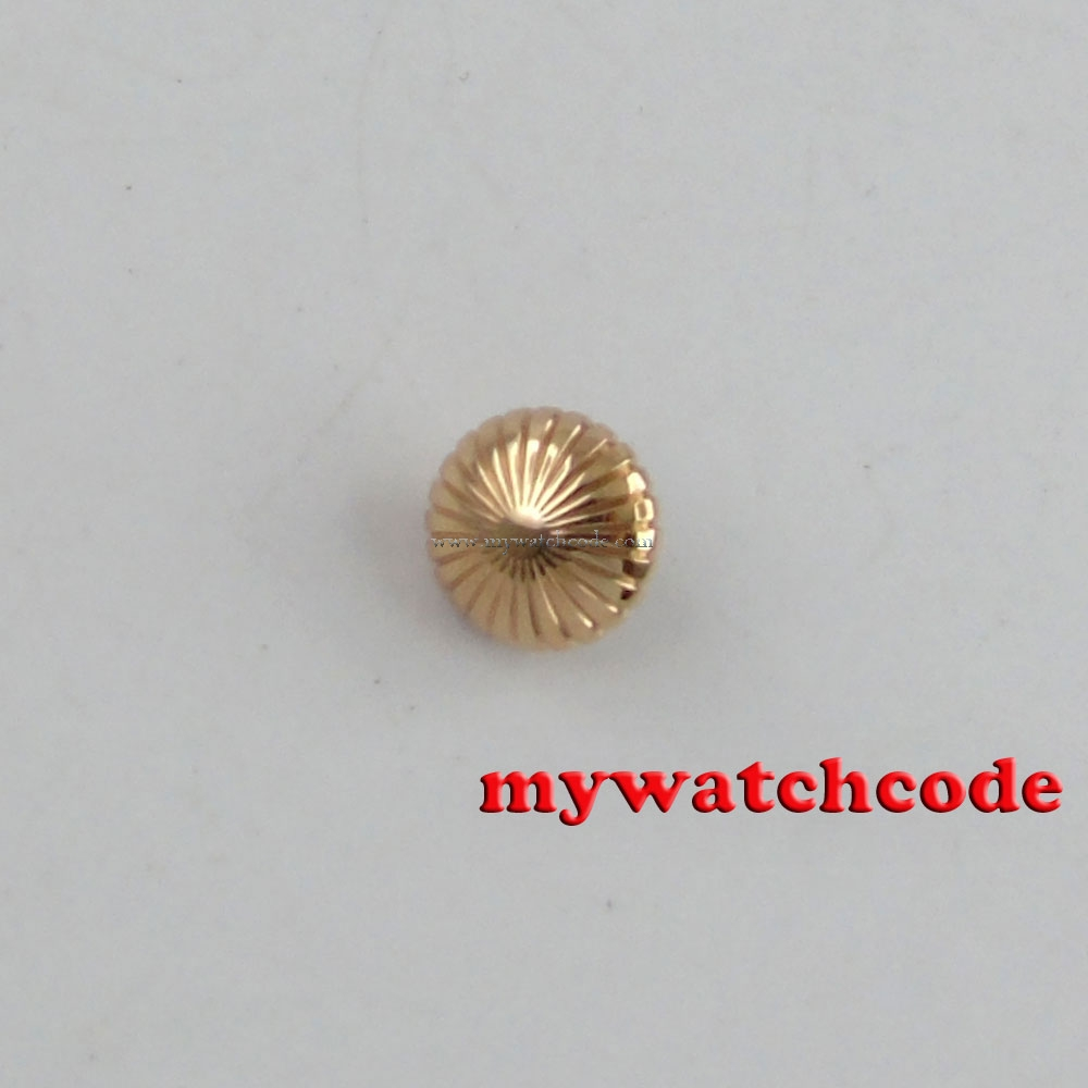 rose golden Stainless Steel Parnis crown fit 6497 6498 ST ...